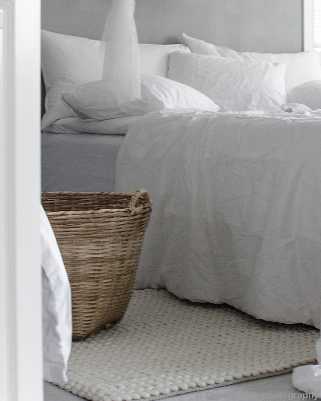 basket and white bed eastern modern rugs
