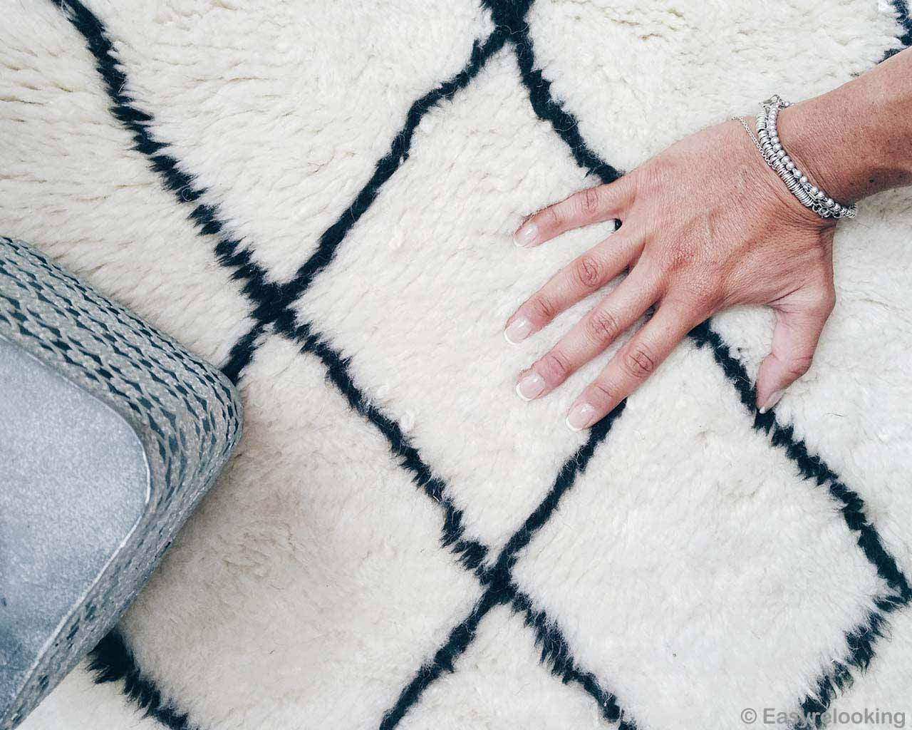 girl hand with bracelet moroccan fresh designer indoor rug