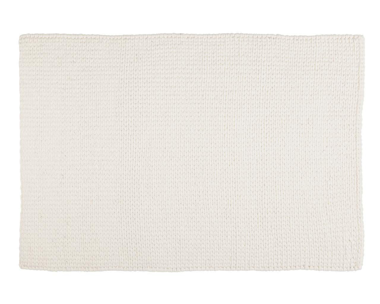 knitted white rectangle wool contemporary area carpets