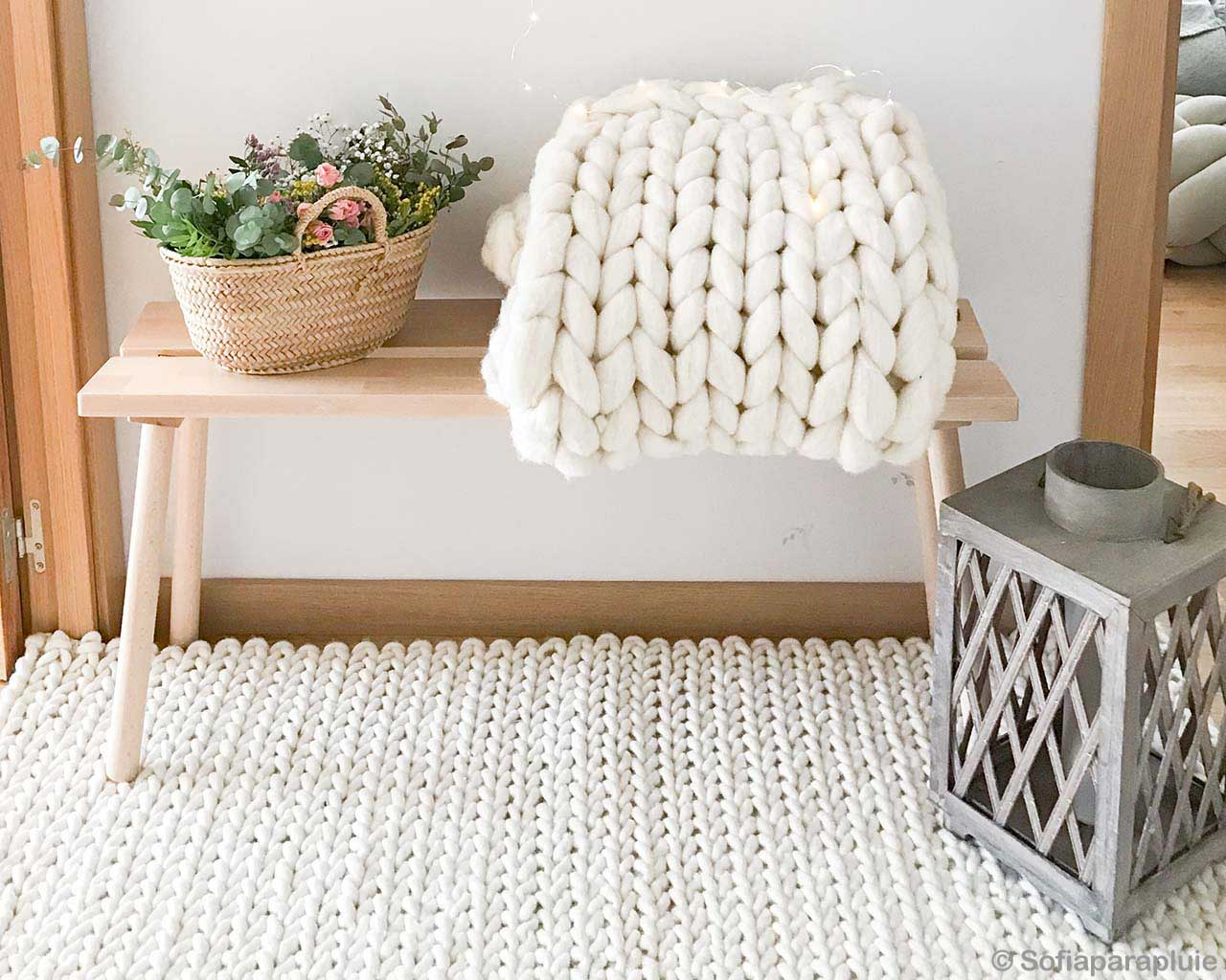 woolen basket of green leaves on wooden table asian traditional cheap area rugs