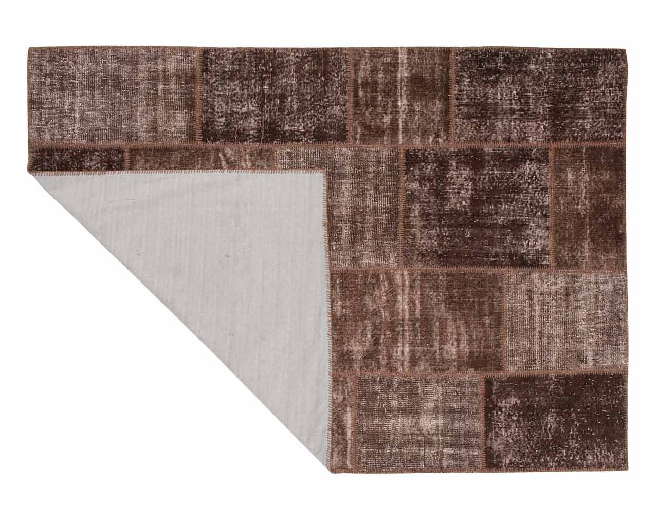 overdyed brown patchwork area rugs