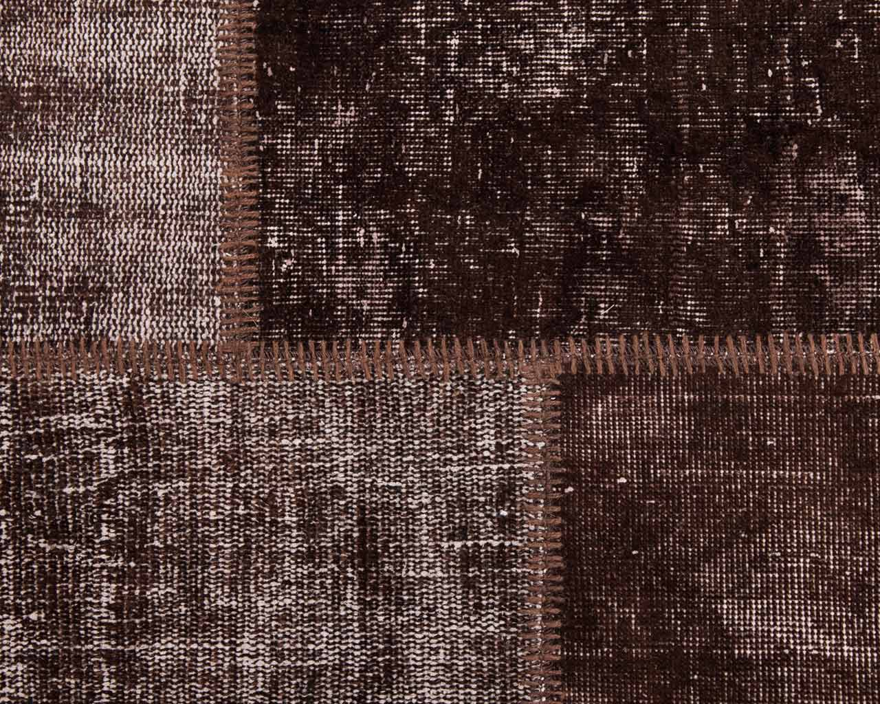 rectangular carpet vintage patchwork brown