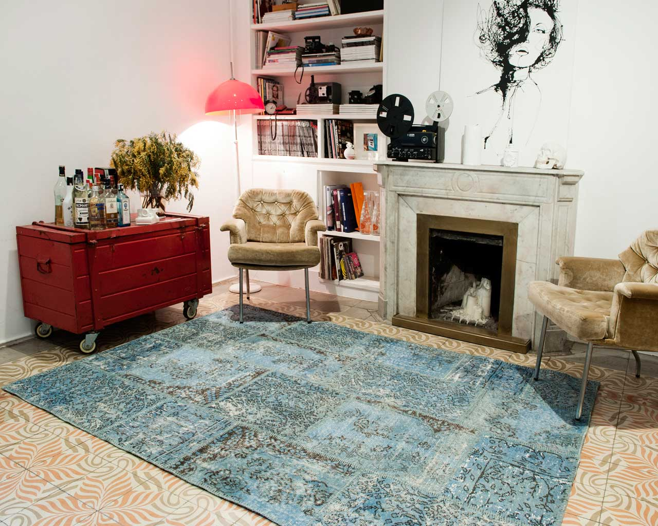 classic design living room carpet