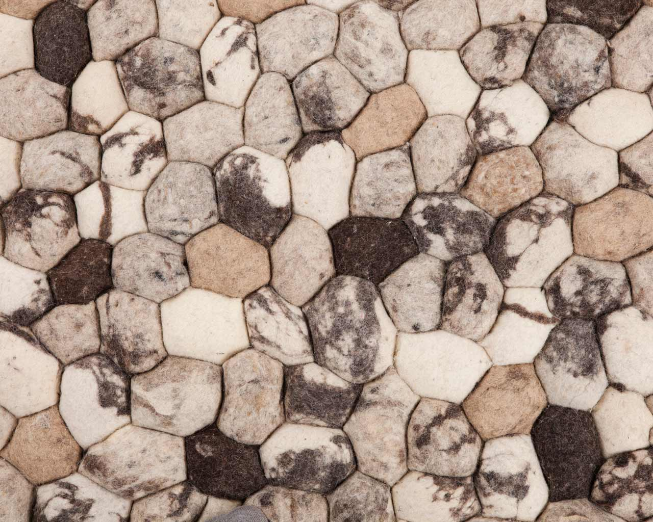 stones carpet beige mix rectangle