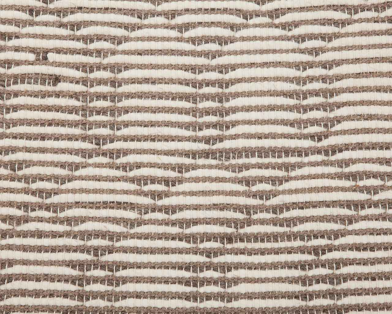 stripedesign white brown backing cotton wool 1