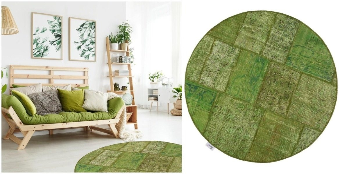 contrast-furniture-and-accessories-with-green-patchwork-rug