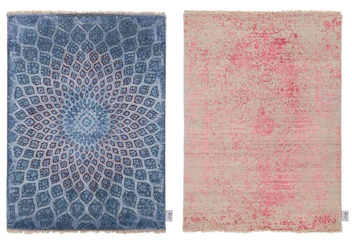 different-models-modern-oriental-rugs-blue-and-pink